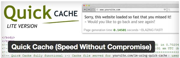 Tres plugins imprescindibles de caché, acelera tu blog con WordPress: Quick Cache