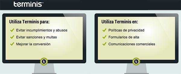 Certifica las bases legales y el contenido de tu web con Terminis