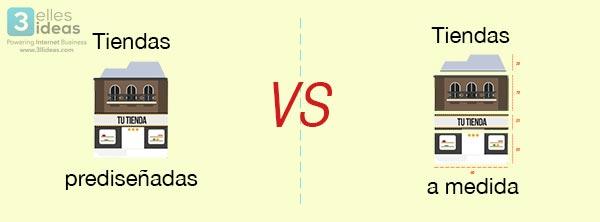 ¿Tienda online prediseñada o hecha a medida? Elige la tuya