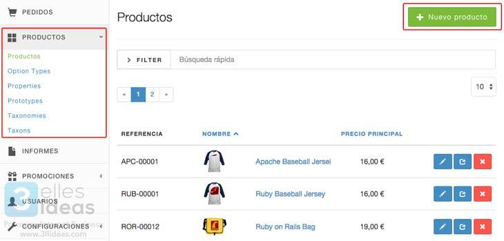 Cómo añadir productos a una tienda online con Spree