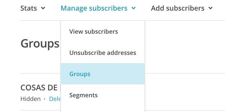 Segmenta tus campañas de email marketing creando grupos en tus listas de MailChimp