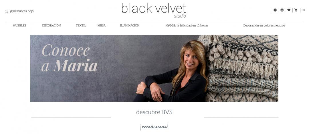 Tienda online: Black Velvet Studio